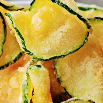 Chips de Abobrinha. Imagem: (Divulgação)