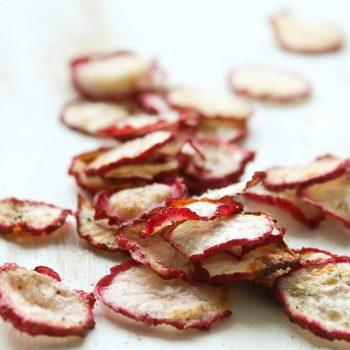 Chips de Rabanete. Imagem: (Divulgação)
