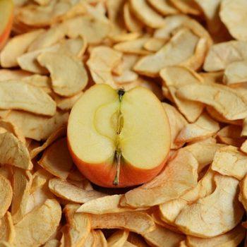 Comida Desidratada: Maçã. Imagem: (Divulgação)