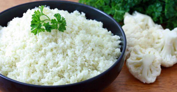 Couve-flor para substituir arroz e macarrão