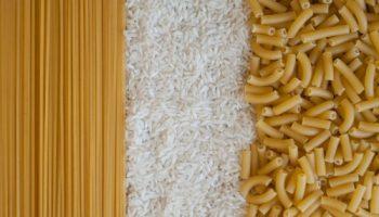 arroz e macarrão
