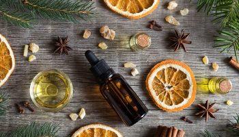 óleos essenciais para o natal