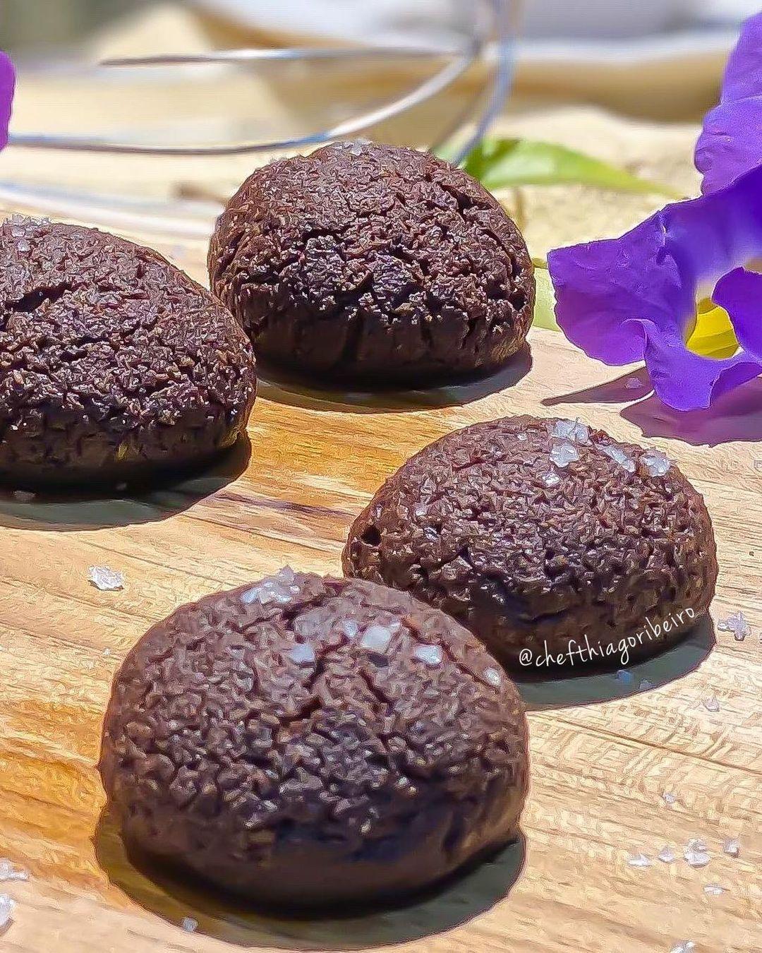 Cookies low carb de chocolate
